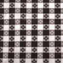 "Winco TBCS-52K Black Square Table Cloth, 52"" x 52"""