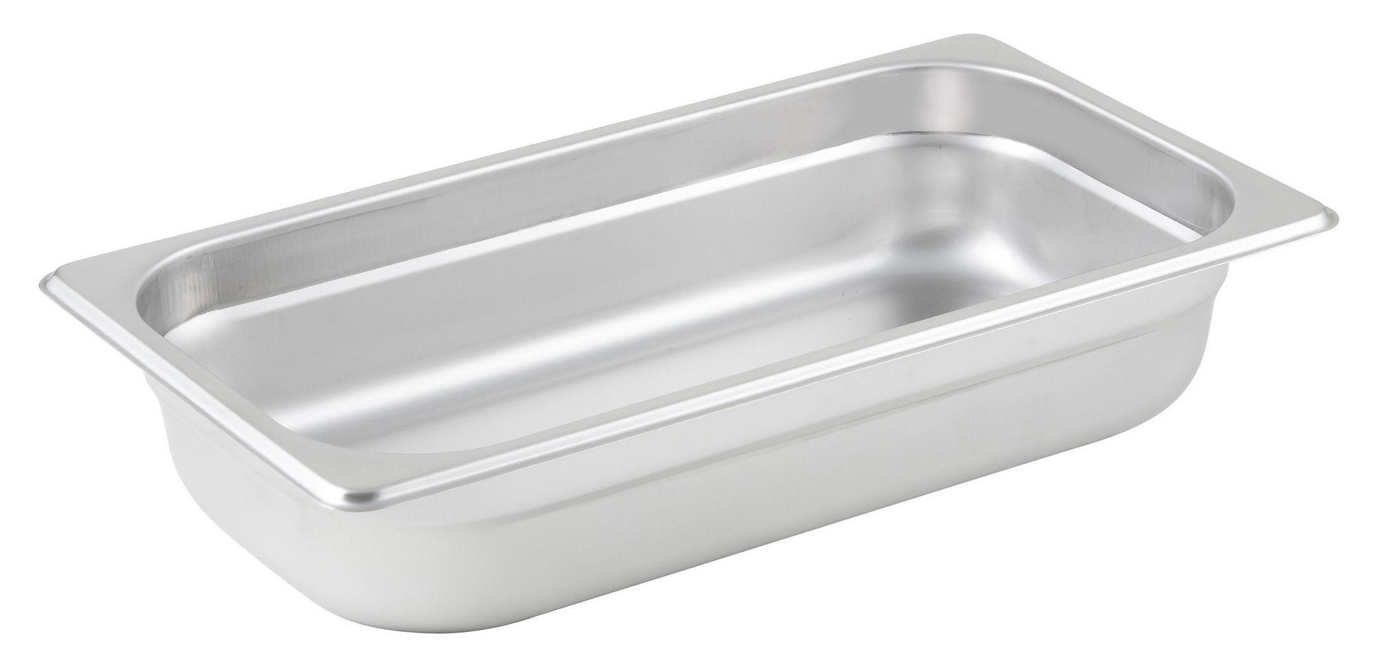 "Winco SPJL-302 1/3 Size Anti-Jam 25 Gauge Steam Table Pan 2-1/2"" Deep"
