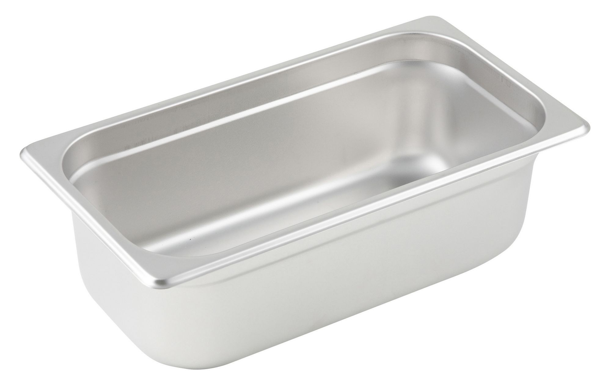 "Winco SPJM-304 1/3 Size Anti-Jam 24 Gauge Steam Table Pan 4"" Deep"