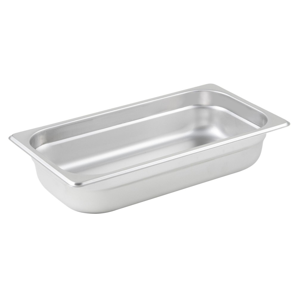 Winco Third Size Anti-Jamming Steam Table Pan (25 Gauge, 2.5