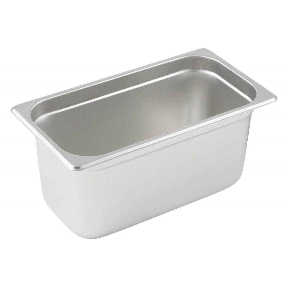 Winco Third Size Anti-Jamming Steam Table Pan (25 Gauge, 6