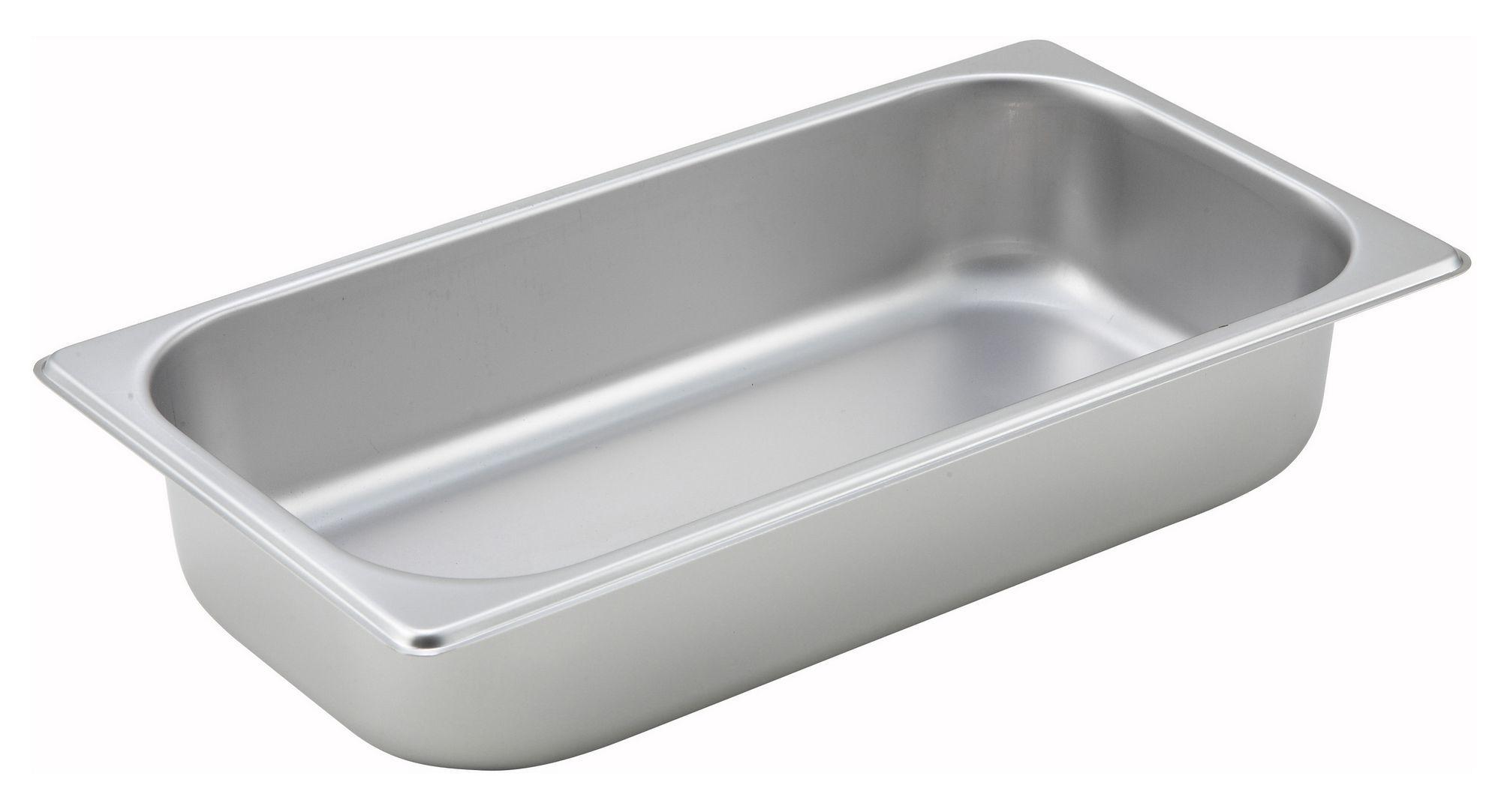 "Winco SPT2 1/3 Size Standard Weight Steam Table Pan 2-1/2"" Deep"