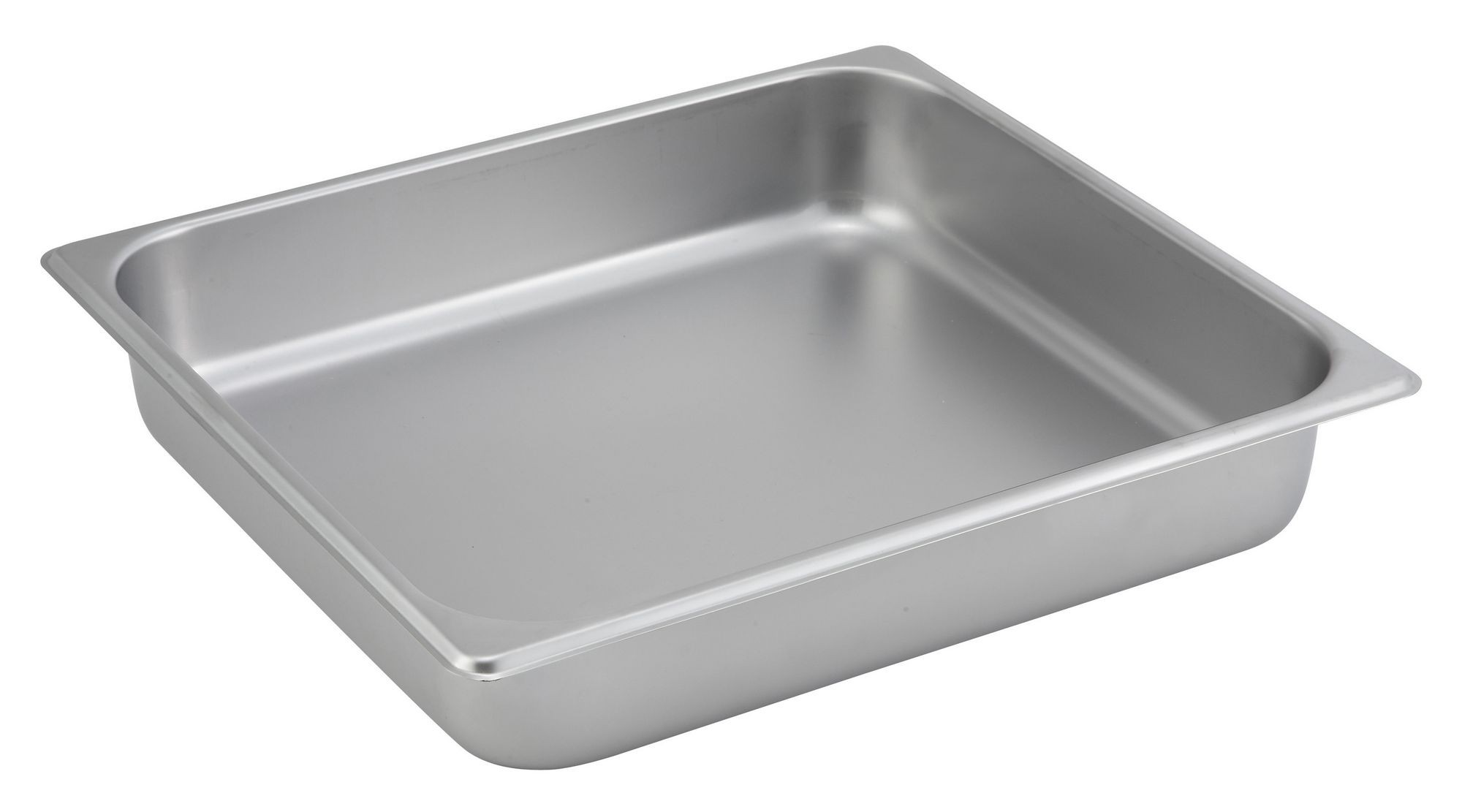 "Winco SPTT2 2/3 Size Standard Weight Steam Table Pan 2-1/2"" Deep"