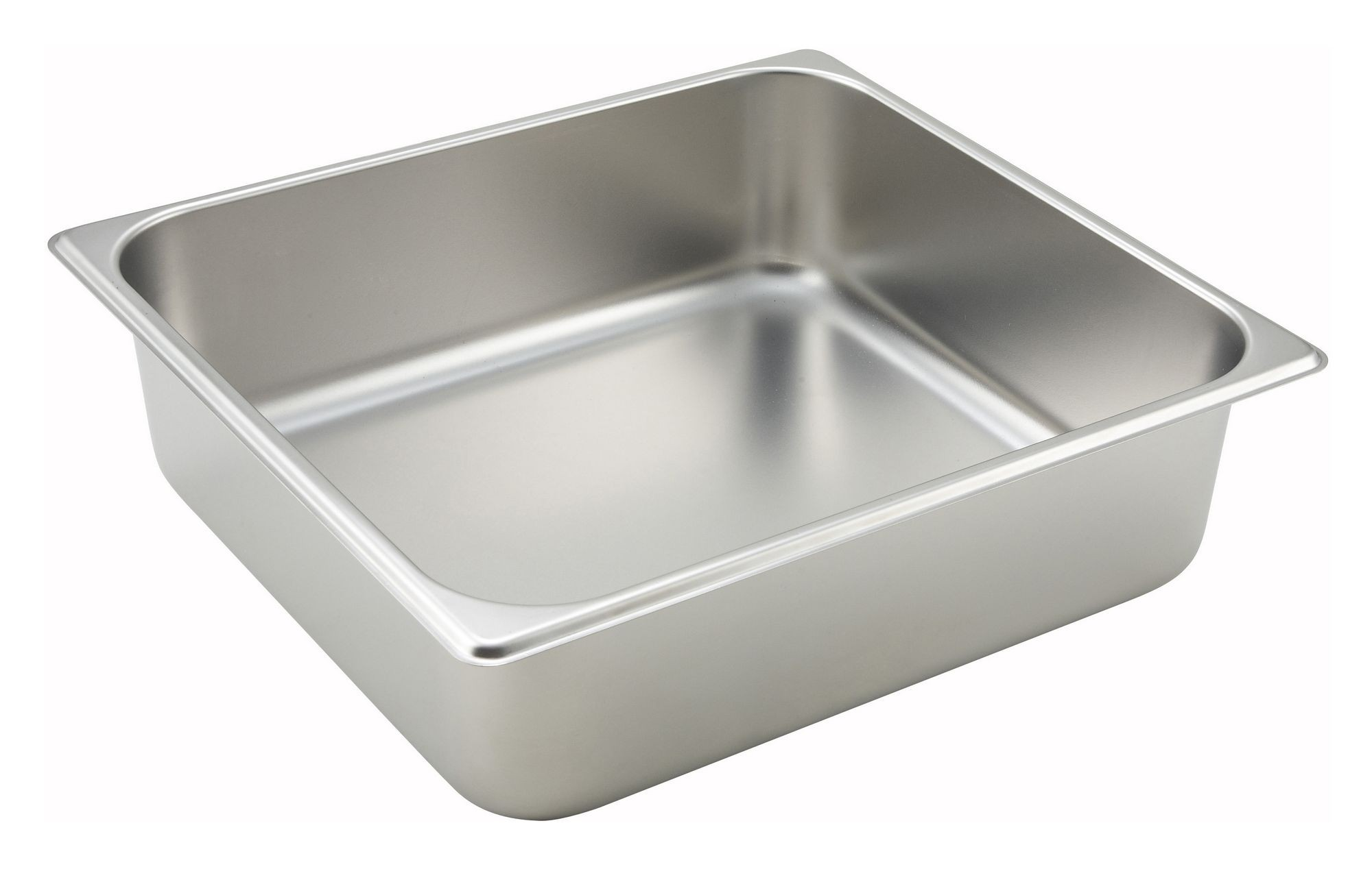 "Winco SPTT4 2/3 Size Standard Weight Steam Table Pan 4"" Deep"