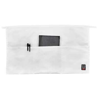 Winco WA-1221W 3-Pocket White Waist Apron