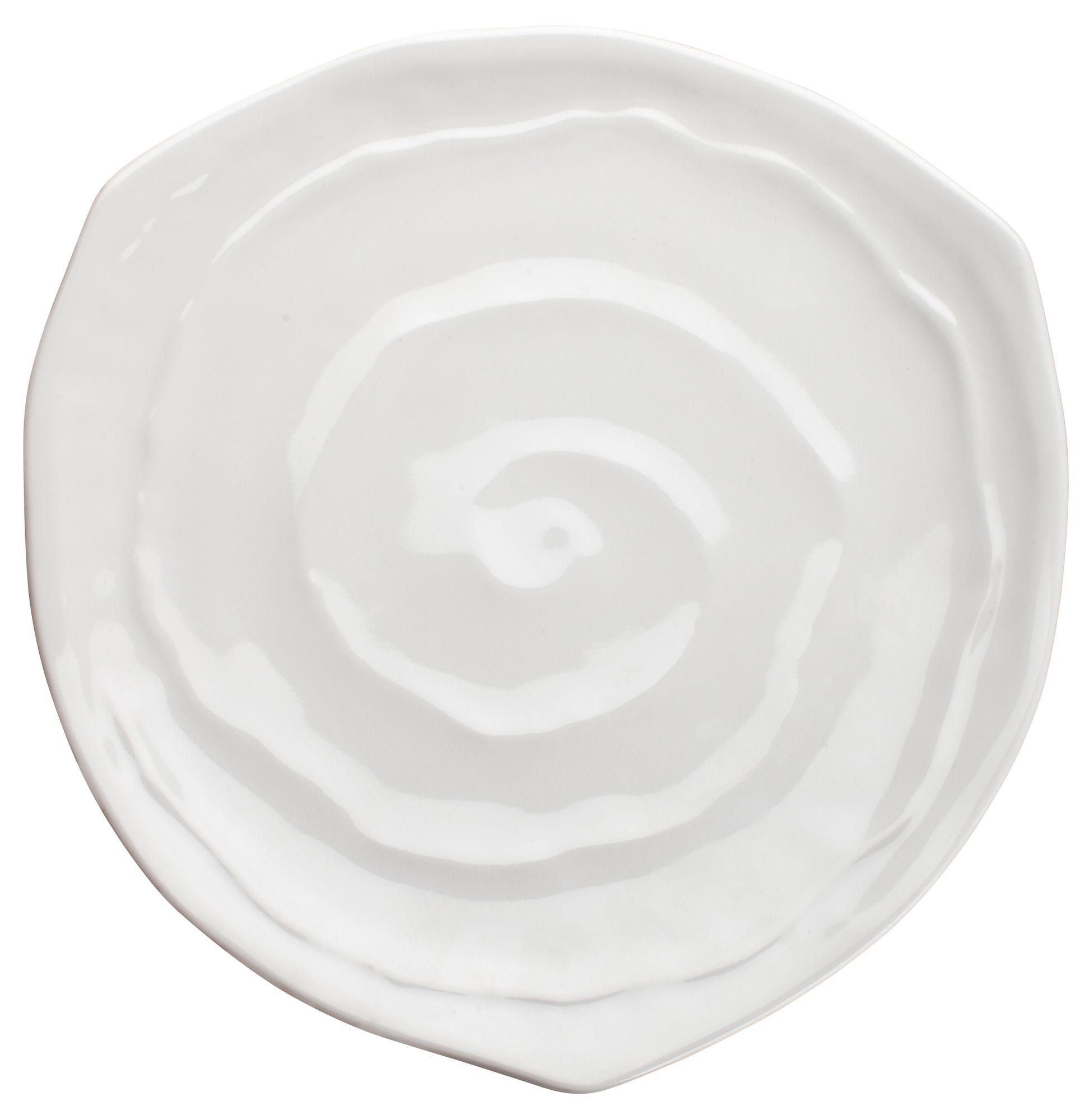 "Winco WDM007-201 Selena Melamine White Triangular Plate 9"""