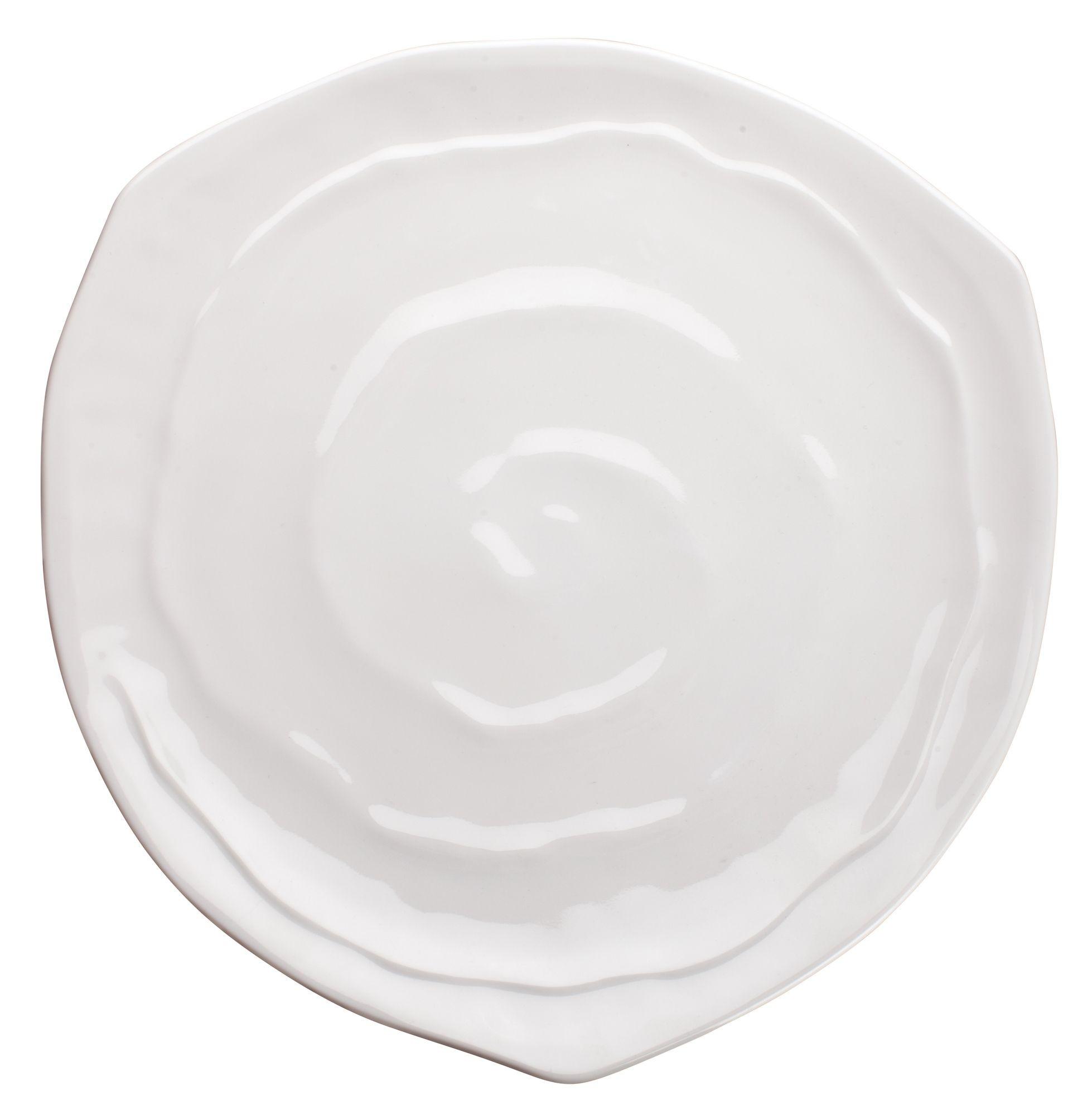 "Winco WDM007-202 Selena Melamine White Triangular Plate 10-5/8"""