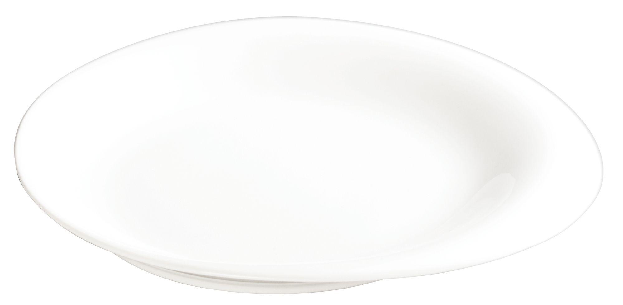 "Winco WDP004-201 Ocea Creamy White Porcelain Round Plate 8"""