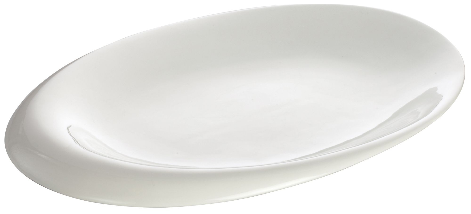 "Winco WDP004-213 Ocea Creamy White Porcelain Oval Bowl 18"" x 13-5/8"""