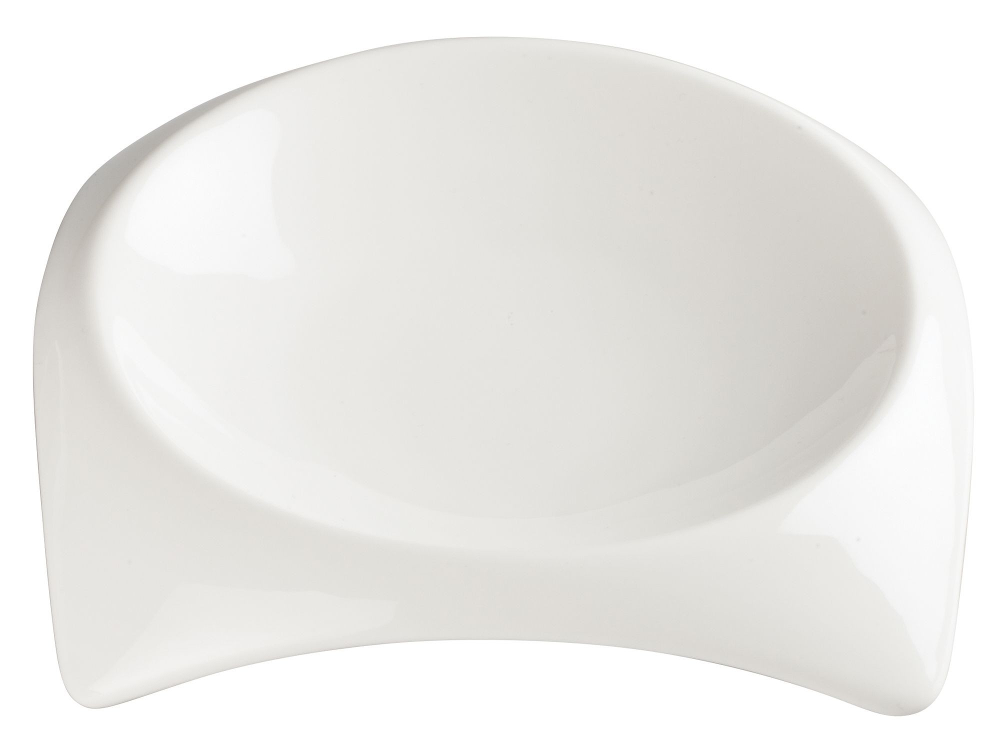 "Winco WDP005-101 Carzola Porcelain Bright White Square Deep Bowl 6-1/4"" Sq (5-1/2"" Dia)"