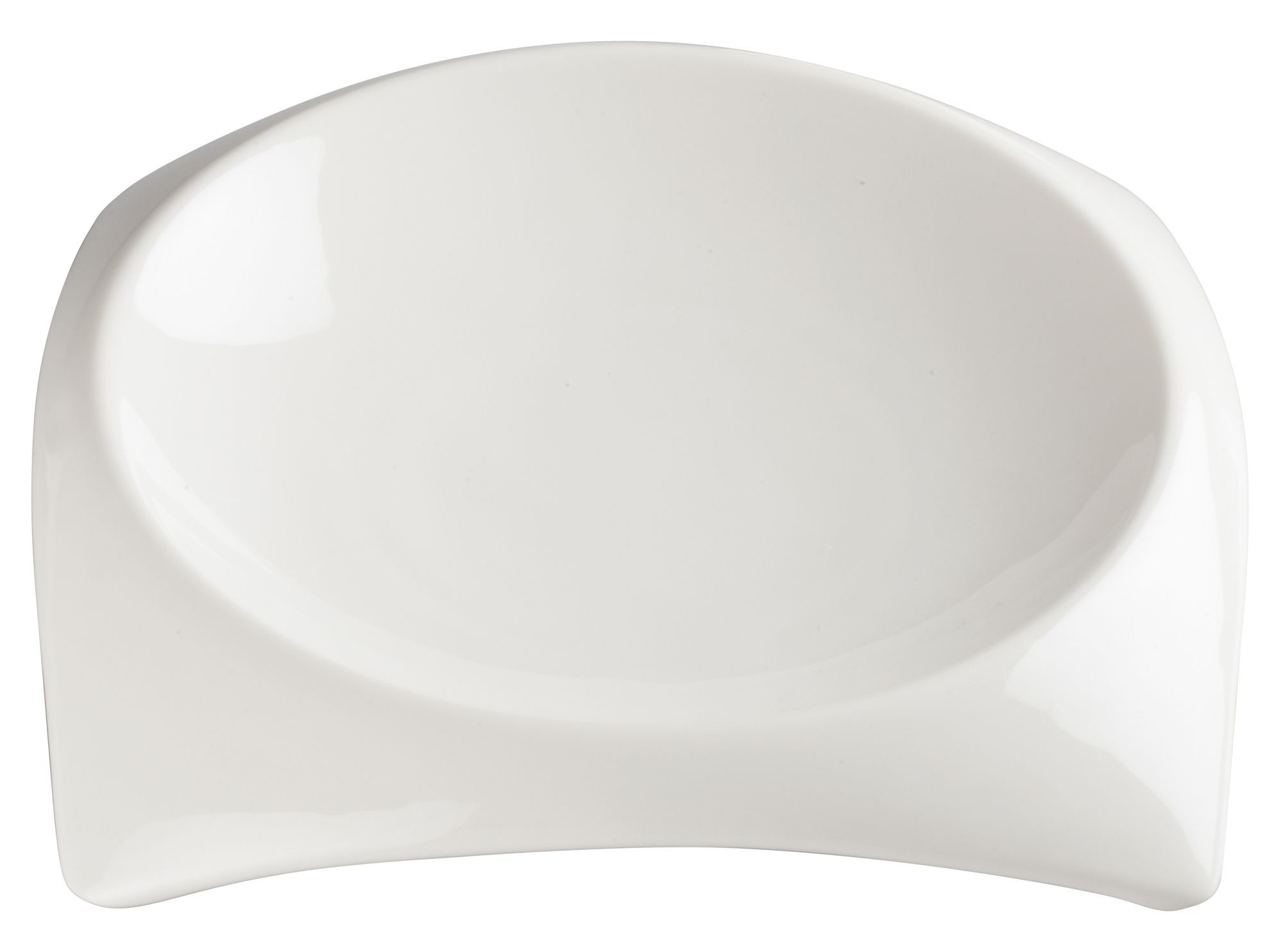 "Winco WDP005-102 Carzola Porcelain Bright White Square Deep Bowl 7-3/4"" Sq (6-3/4"" Dia)"