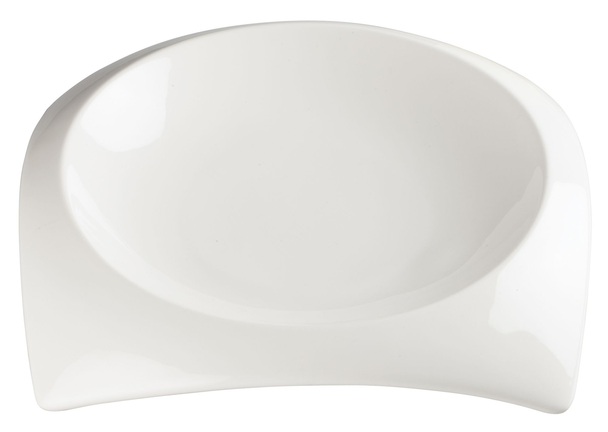 "Winco WDP005-103 Carzola Porcelain Bright White Square Deep Bowl 10"" Sq (8-1/2"" Dia)"