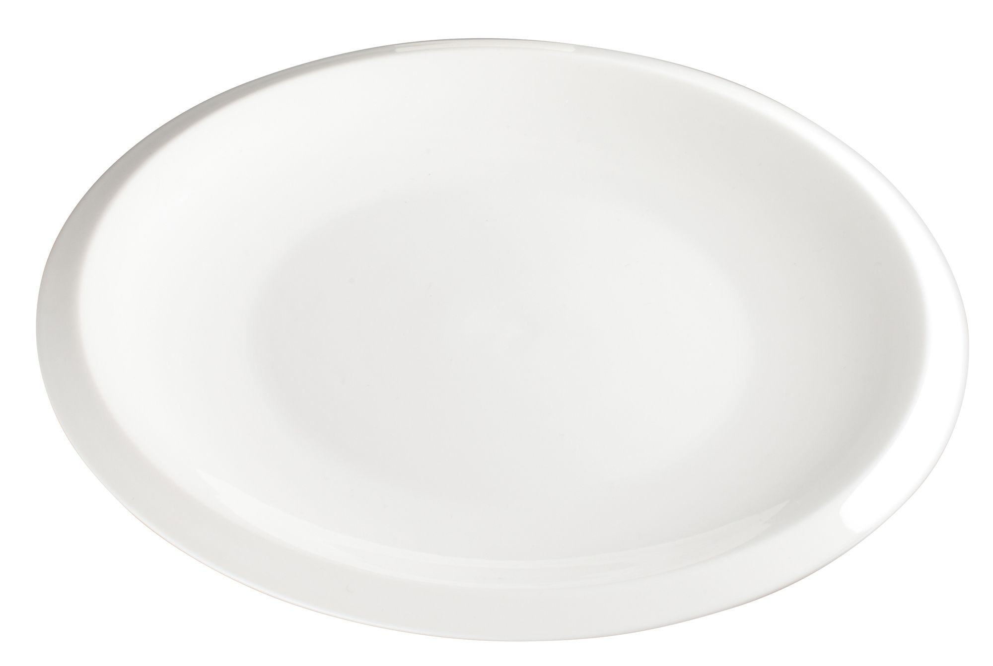 "Winco WDP006-202 Bergomi Creamy White Porcelain Round Platter 10-1/4"" Dia."