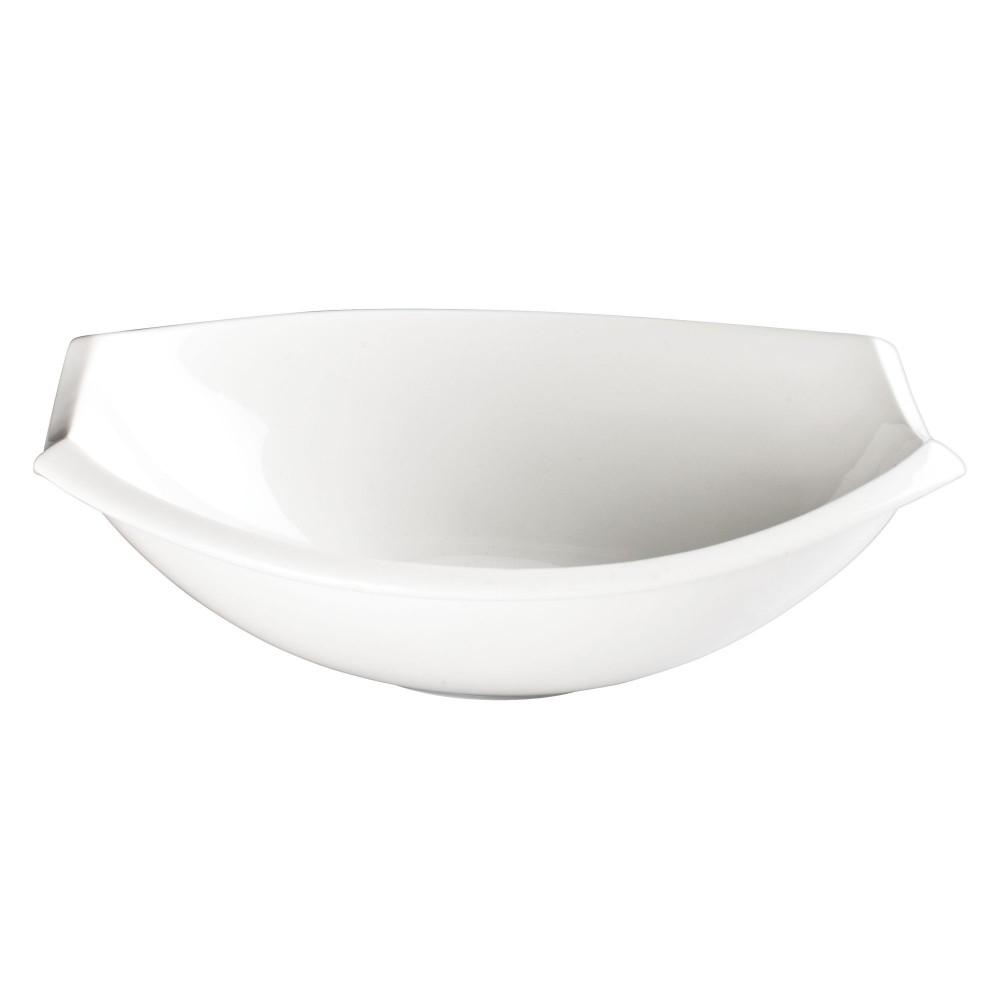 Enterprises SP-DN-313-W White 13 oz Pack of 12 G.E.T Melamine Rimmed Bowl