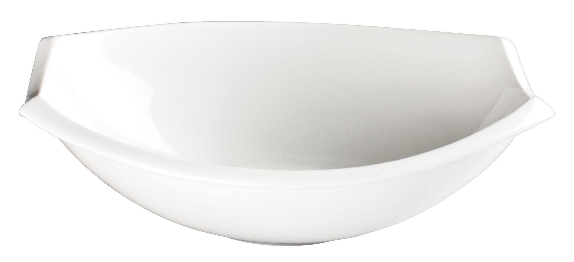 "Winco WDP006-206 Bergomi Creamy White Porcelain Oval Bowl 13"""