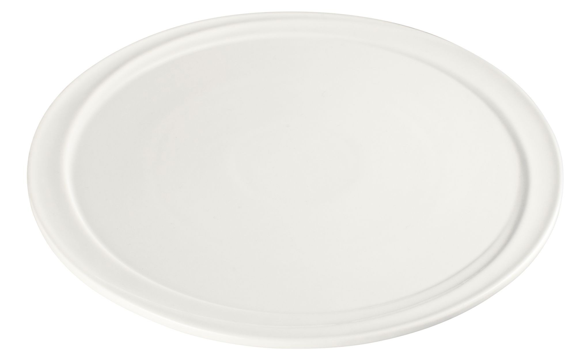 "Winco WDP007-101 Mazzari Creamy White Porcelain Round Platter 10"""