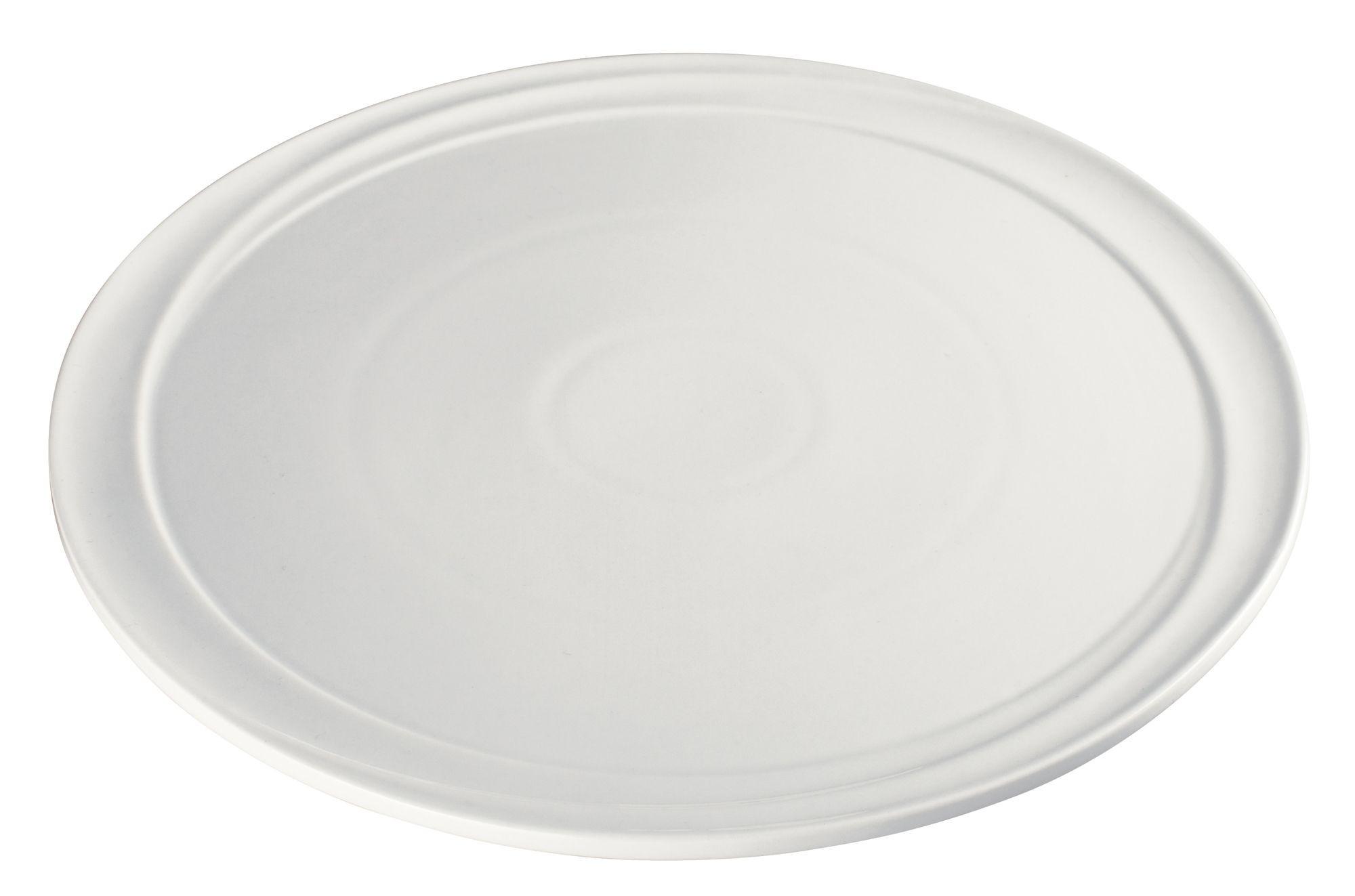"Winco WDP007-102 Mazzari Creamy White Porcelain Round Platter 11"""