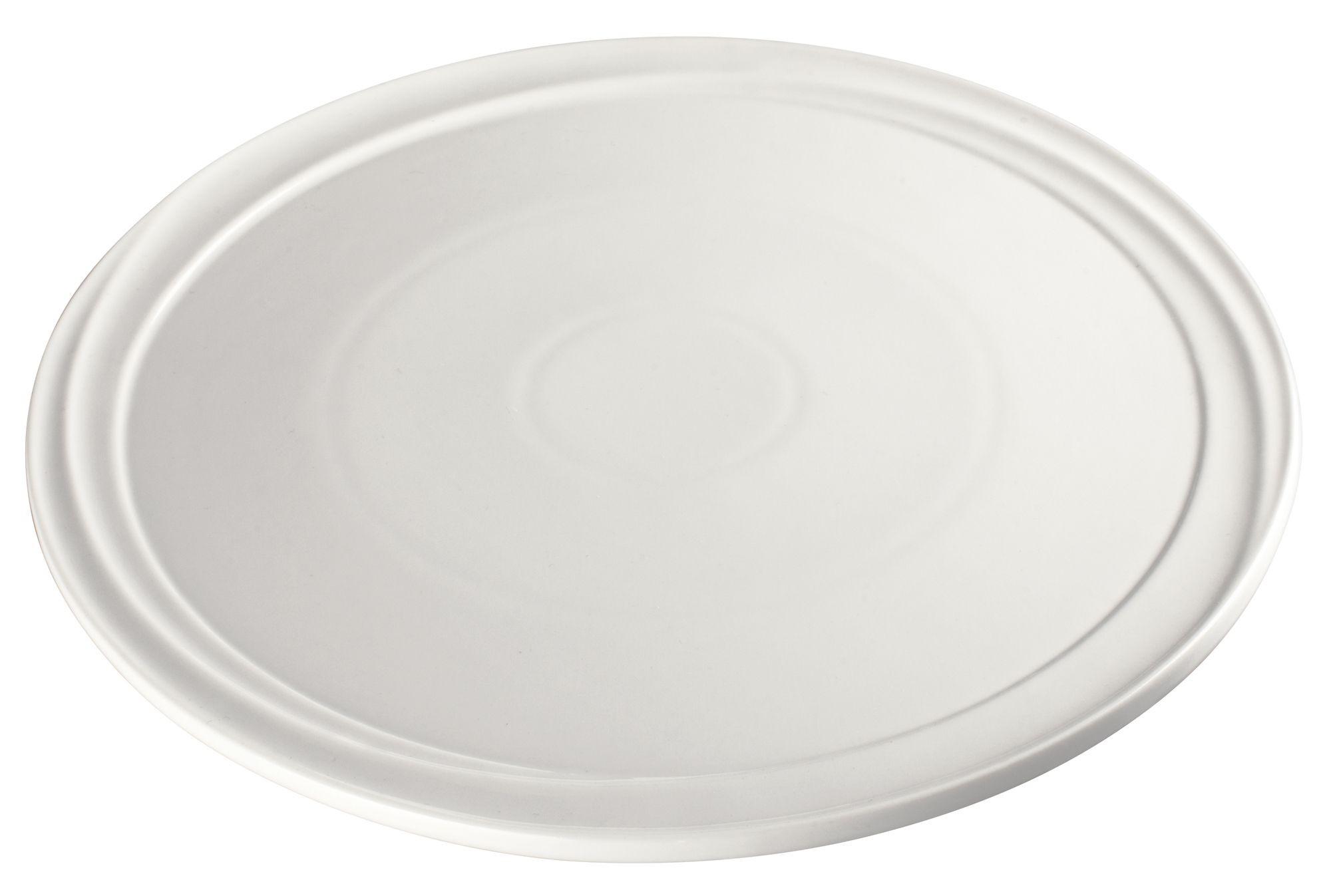 "Winco WDP007-103 Mazzari Creamy White Porcelain Round Platter 12"""