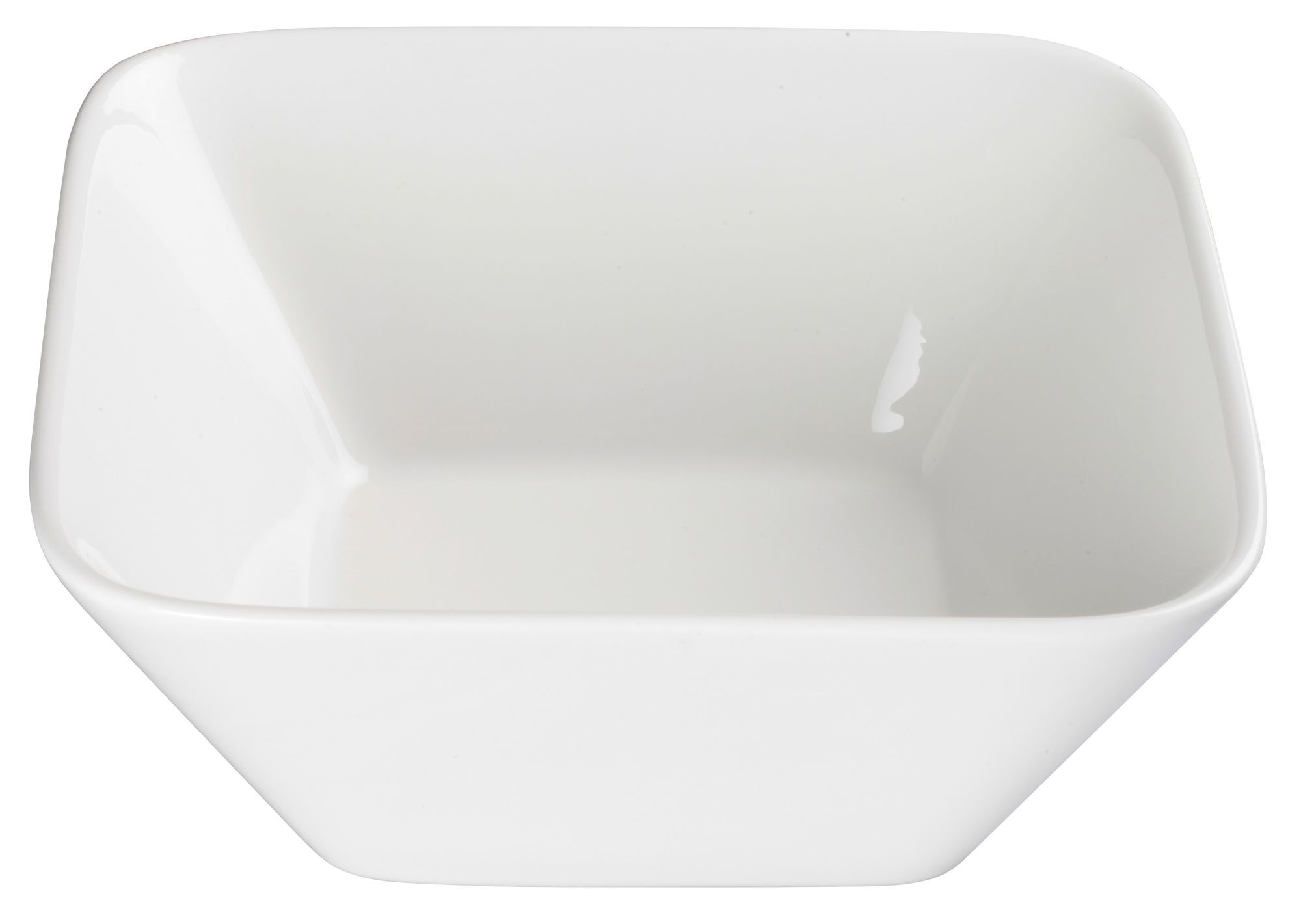 Winco WDP008-104 Laurets Porcelain Bright White Square Bowl 7-5/8""