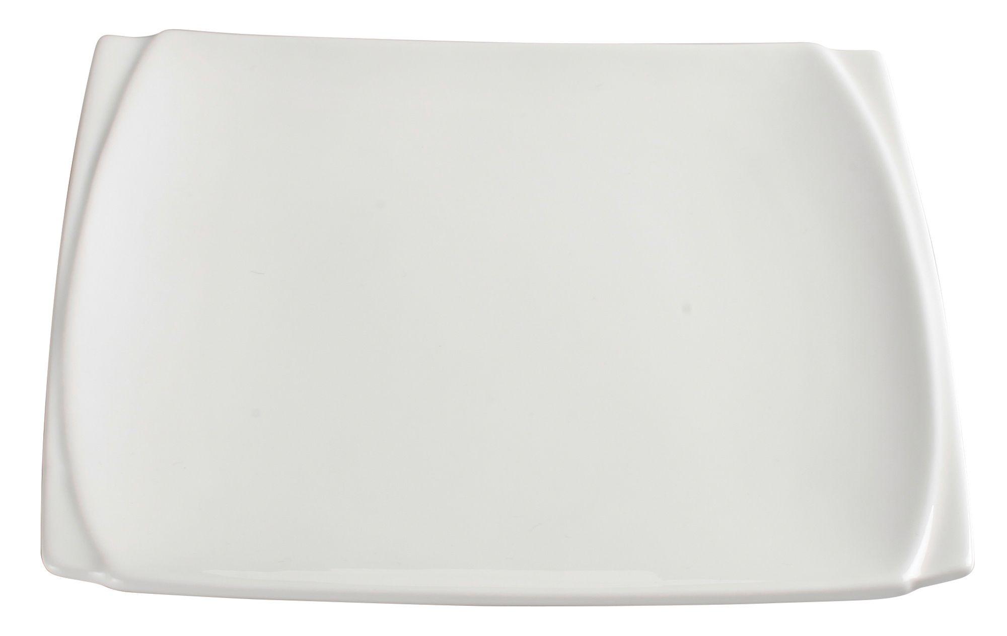 """Winco WDP009-101 Bettini Porcelain Bright White Square Plate 7-1/2"""""""