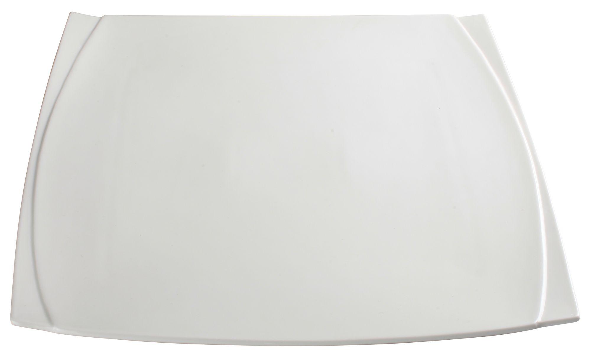 """Winco WDP009-103 Bettini Porcelain Bright White Square Plate 14"""""""