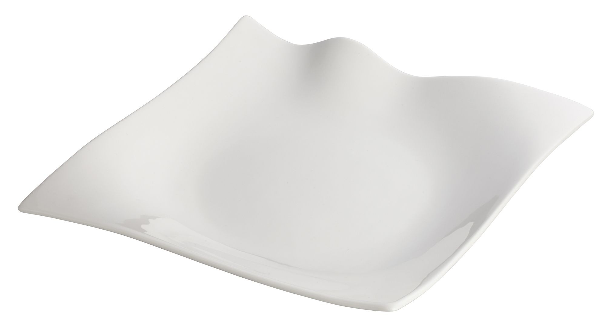Winco WDP010-102 Fallet Porcelain Bright White Square Plate 10""