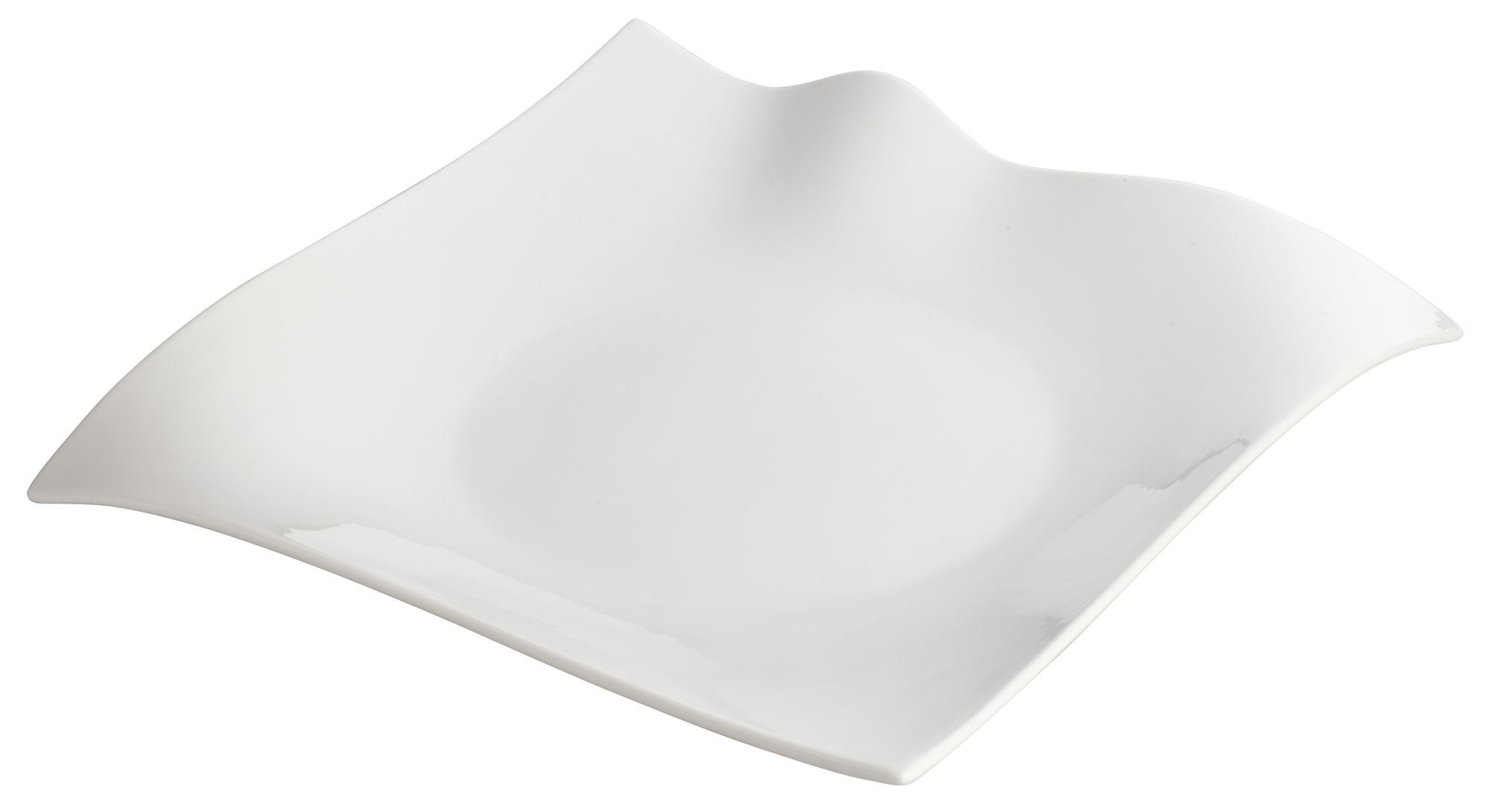 Winco WDP010-103 Fallet Porcelain Bright White Square Plate 12""