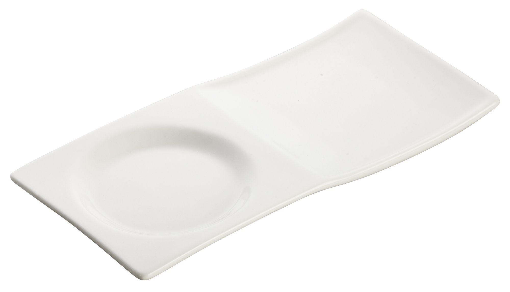 "Winco WDP012-101 Tenora Porcelain Bright White Tray 8"" x 3-3/4"""