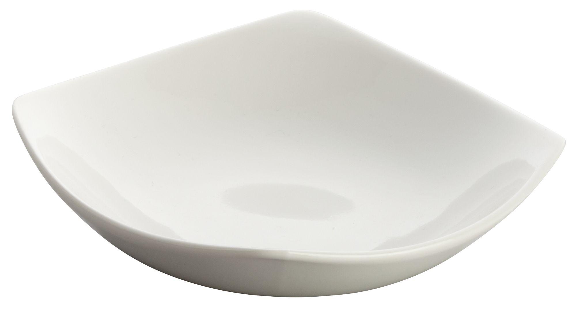 """Winco WDP013-103 Lera Porcelain Bright White Square Plate 5-1/4"""""""