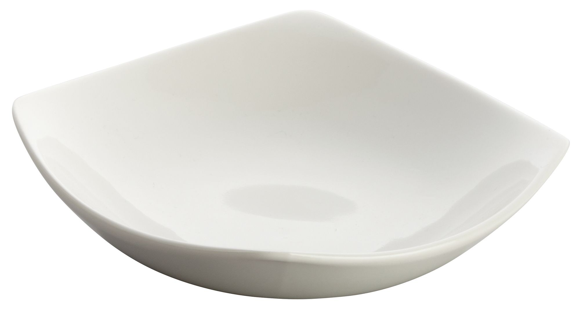 """Winco WDP013-104 Lera Porcelain Bright White Square Plate 6"""""""