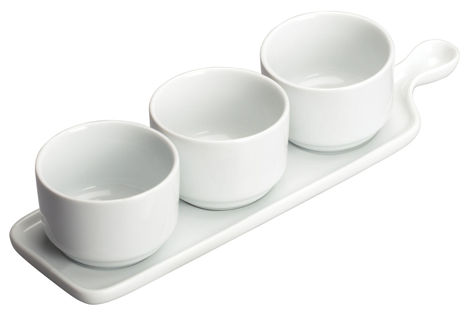 """Winco WDP016-101 Newry Porcelain Trio Tapas Set 12"""" x 3-1/2"""""""