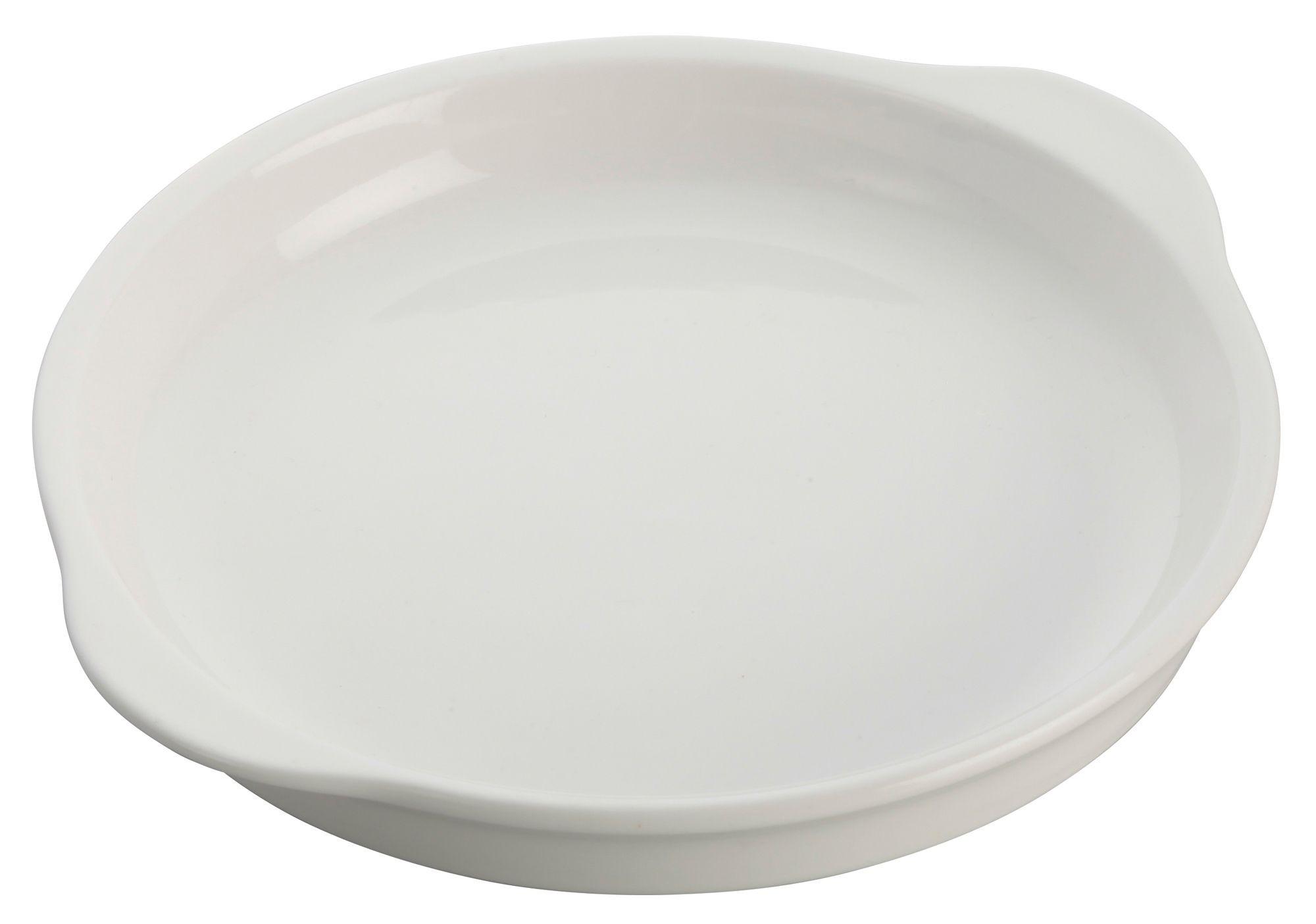 """Winco WDP018-104 Edessa Porcelain Bright White Round Dish 11"""""""