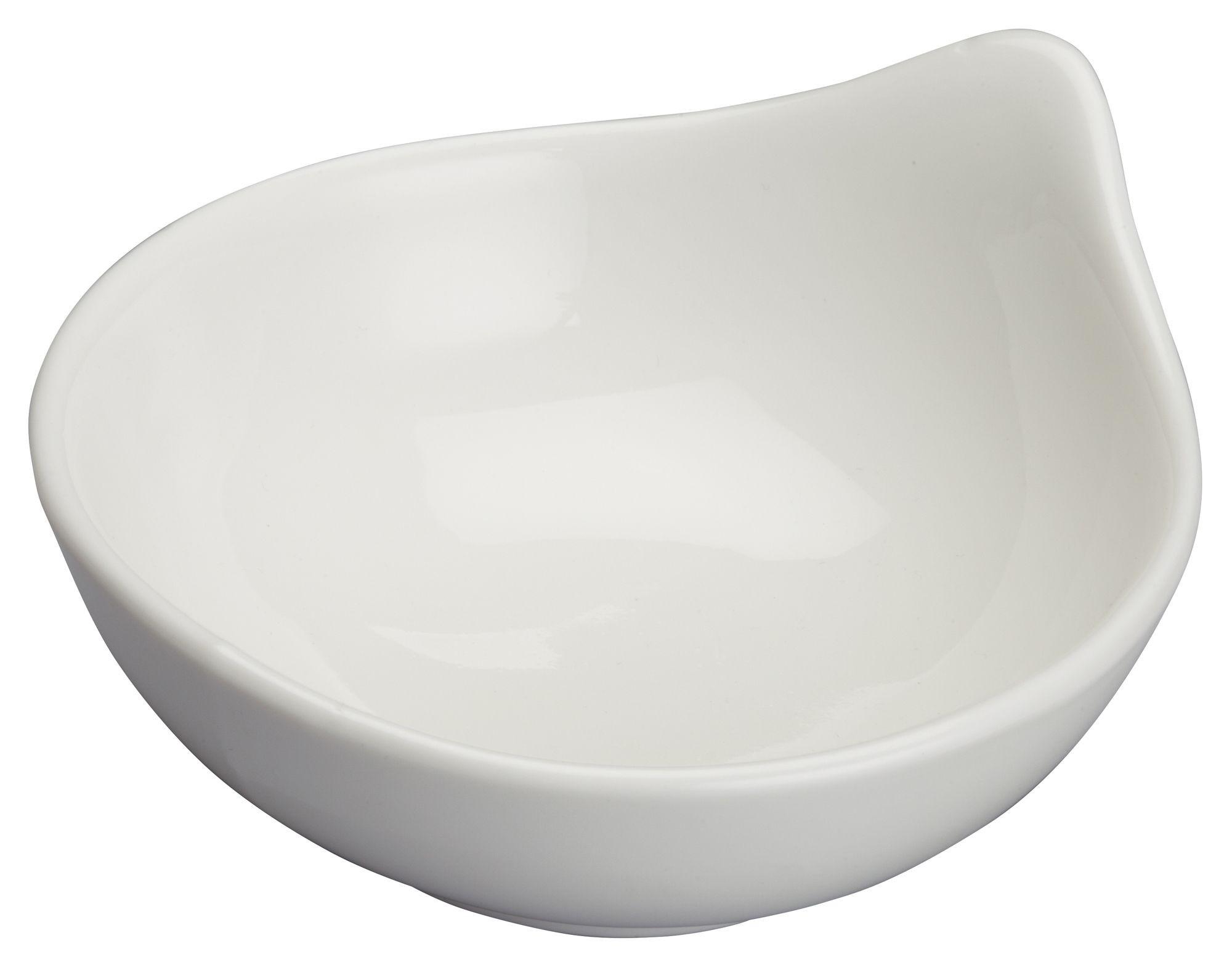 """Winco WDP021-103 Mescalore Porcelain Bright White Dish 3-3/4"""" Dia"""