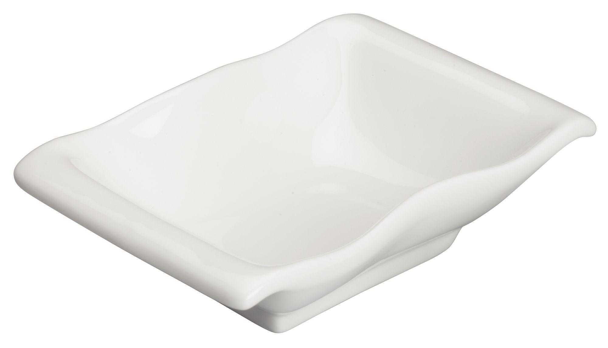"""Winco WDP021-107 Mescalore Porcelain Bright White Dish 5-1/4"""" x 3-7/8"""""""
