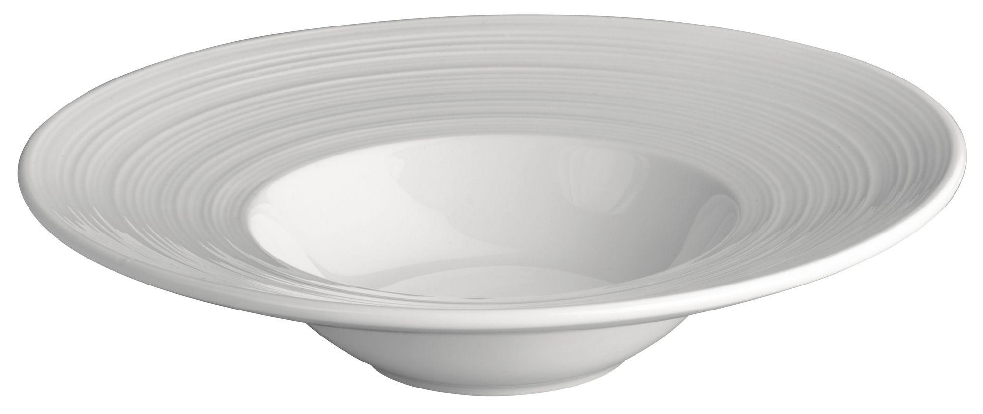 """Winco WDP022-104 Zendo Porcelain Bright White Bowl 12"""""""