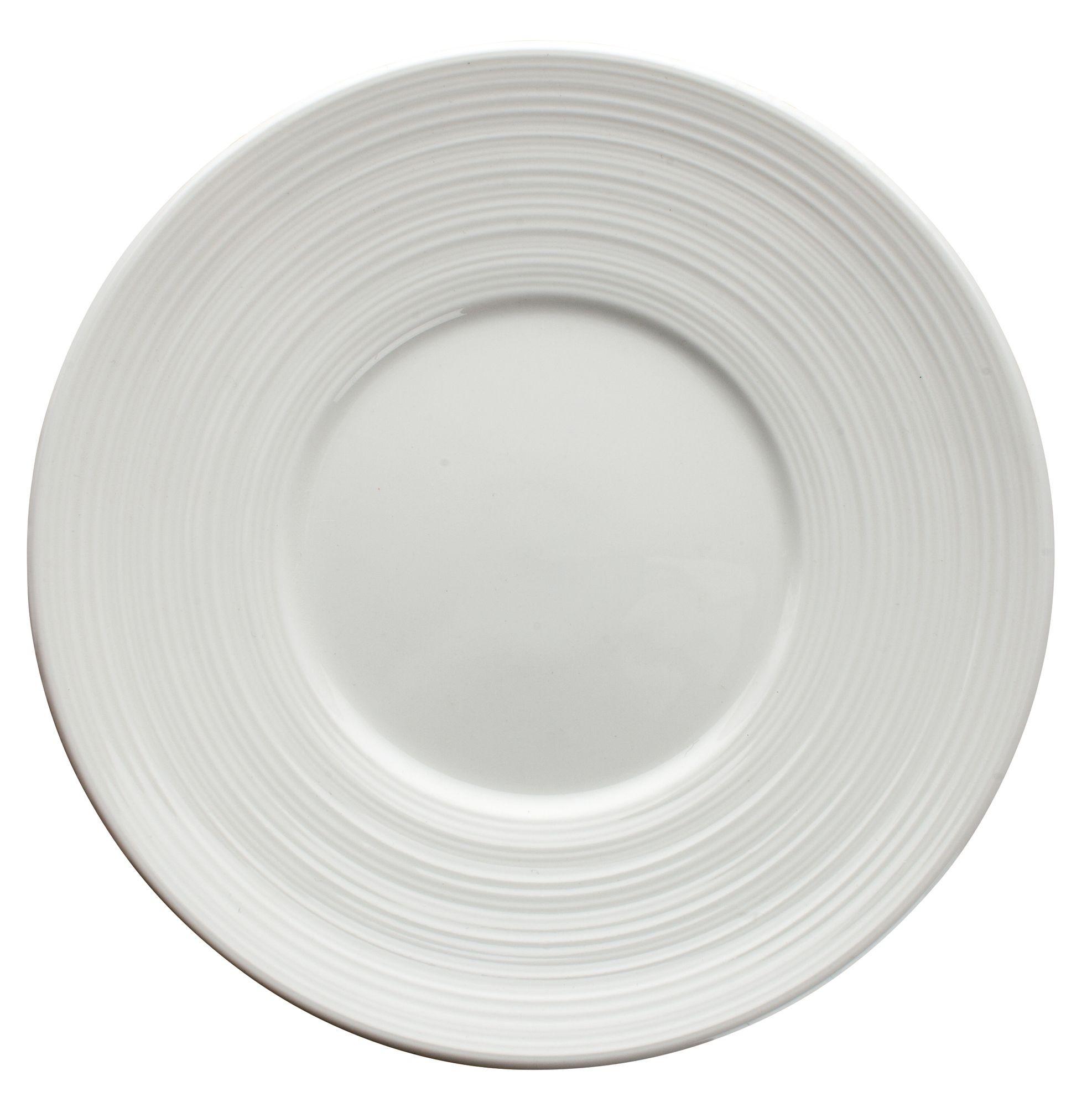 """Winco WDP022-105 Zendo Porcelain Bright White Round Plate 6-1/2"""""""