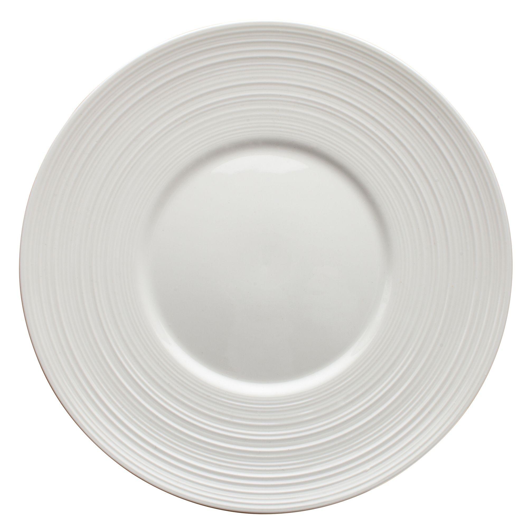 """Winco WDP022-106 Zendo Porcelain Bright White Round Plate 8-1/8"""""""
