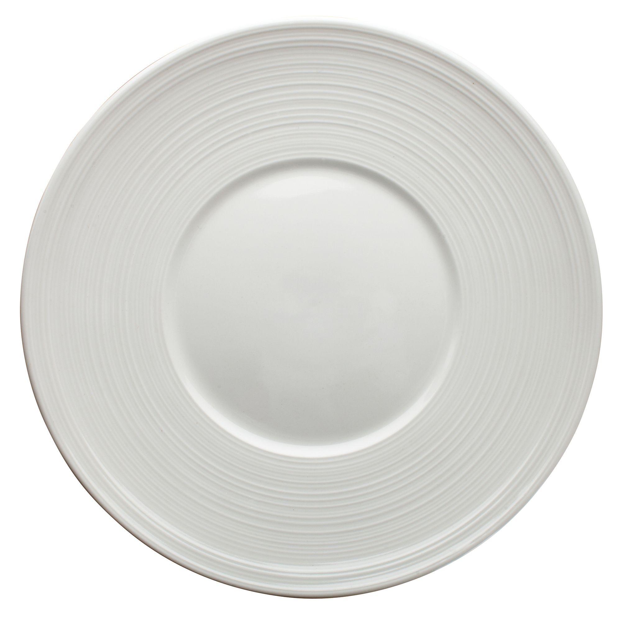 """Winco WDP022-107 Zendo Porcelain Bright White Round Plate 9"""""""