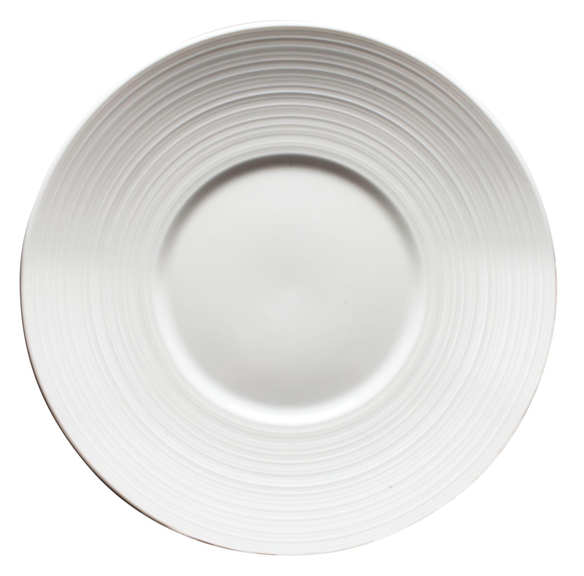 """Winco WDP022-108 Zendo Porcelain Bright White Round Plate 10"""""""