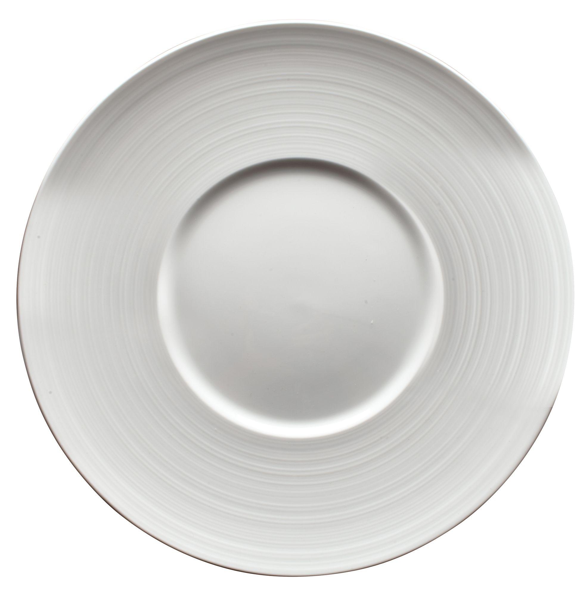 """Winco WDP022-109 Zendo Porcelain Bright White Round Plate 11-1/8"""""""