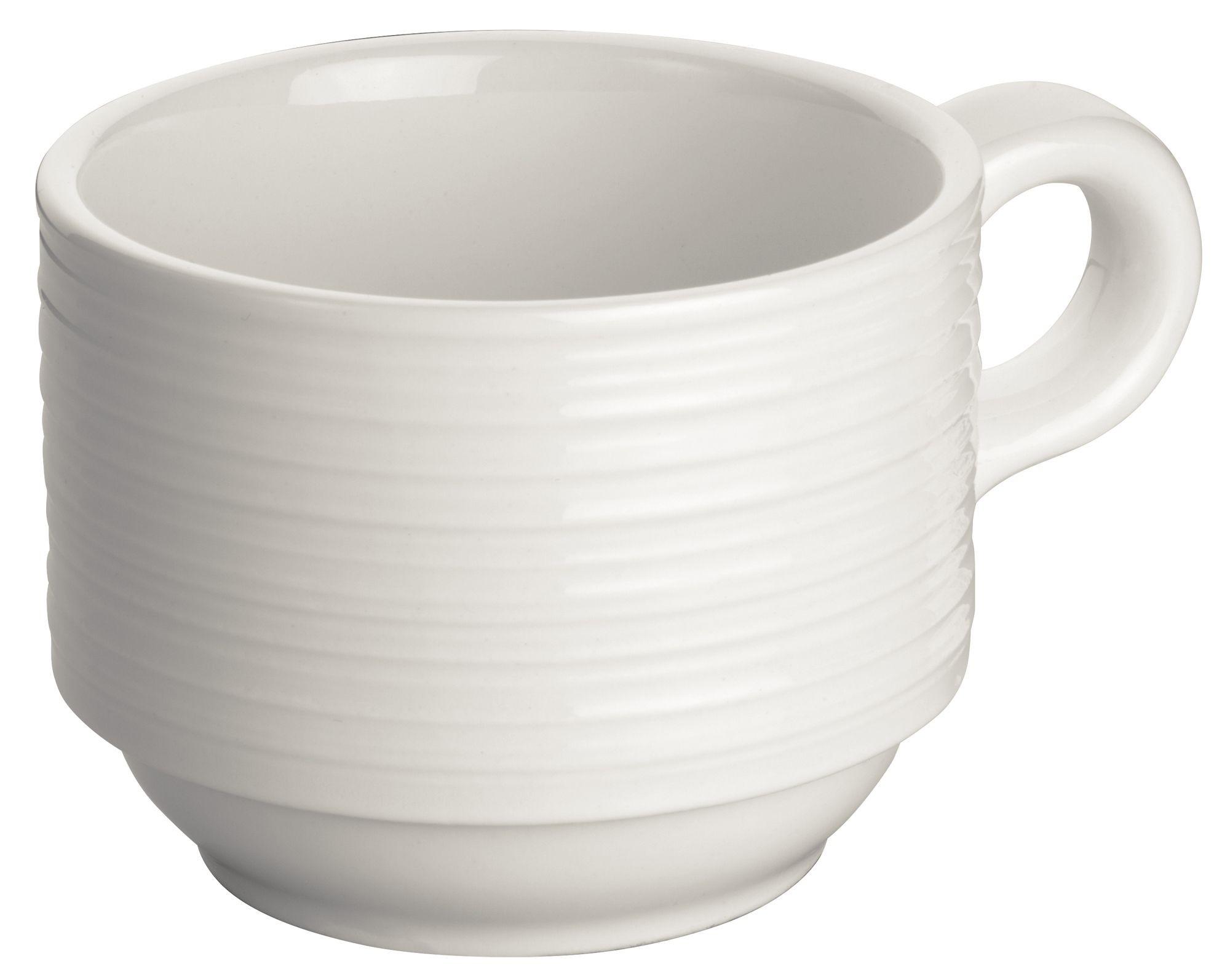 """Winco WDP022-111 Zendo Porcelain Bright White Coffee Cup 3-1/4"""""""