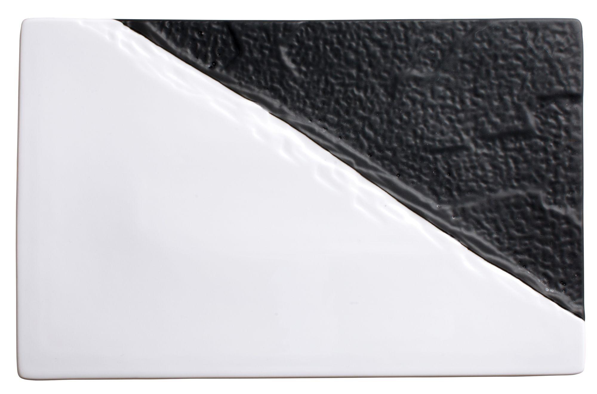 "Winco WDP023-201 Visca Porcelain Rectangular Platter 11-5/8"" x 7-1/4"""