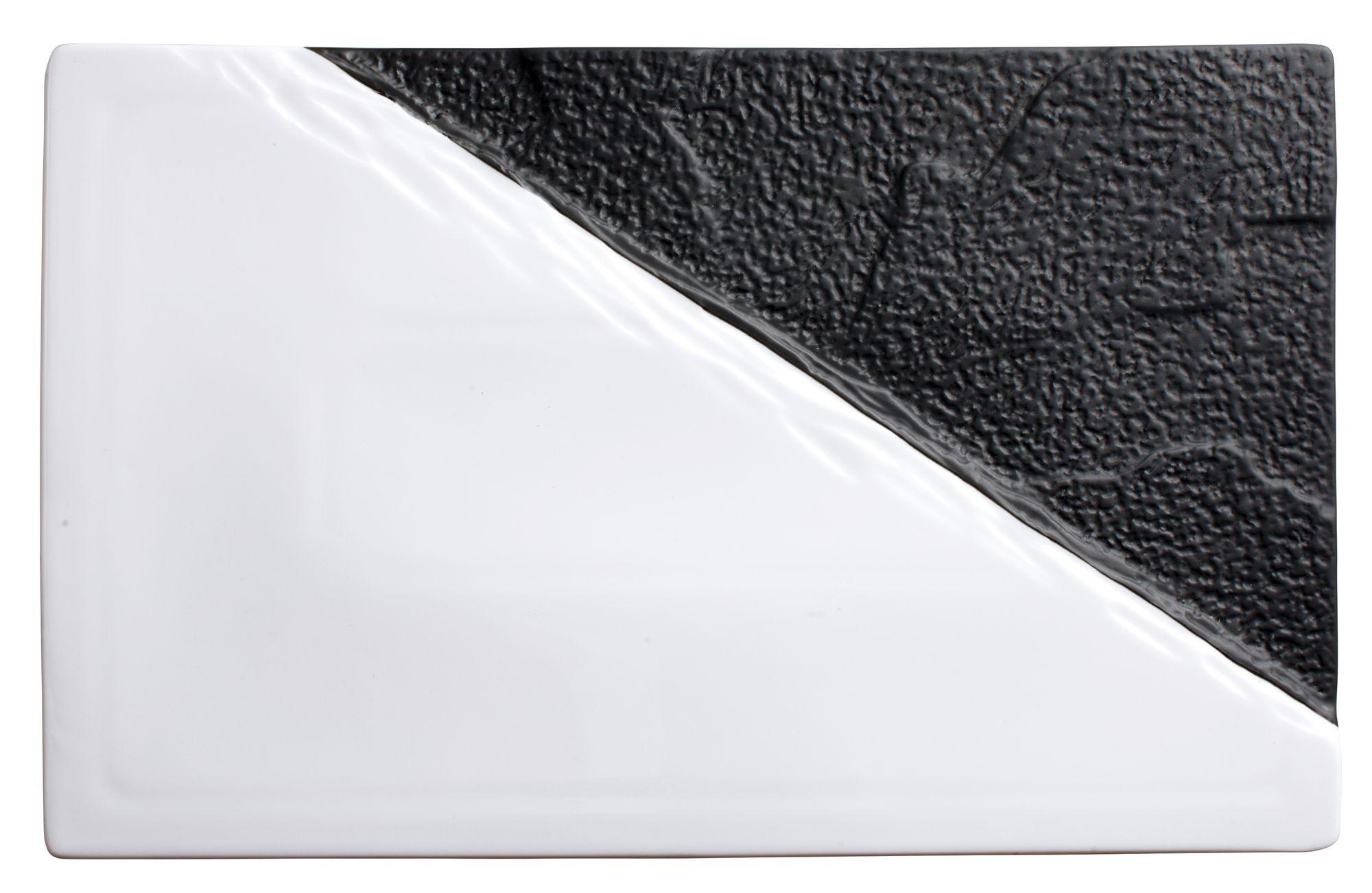 "Winco WDP023-202 Visca Porcelain Rectangular Platter 13-7/8"" x 8-5/8"""