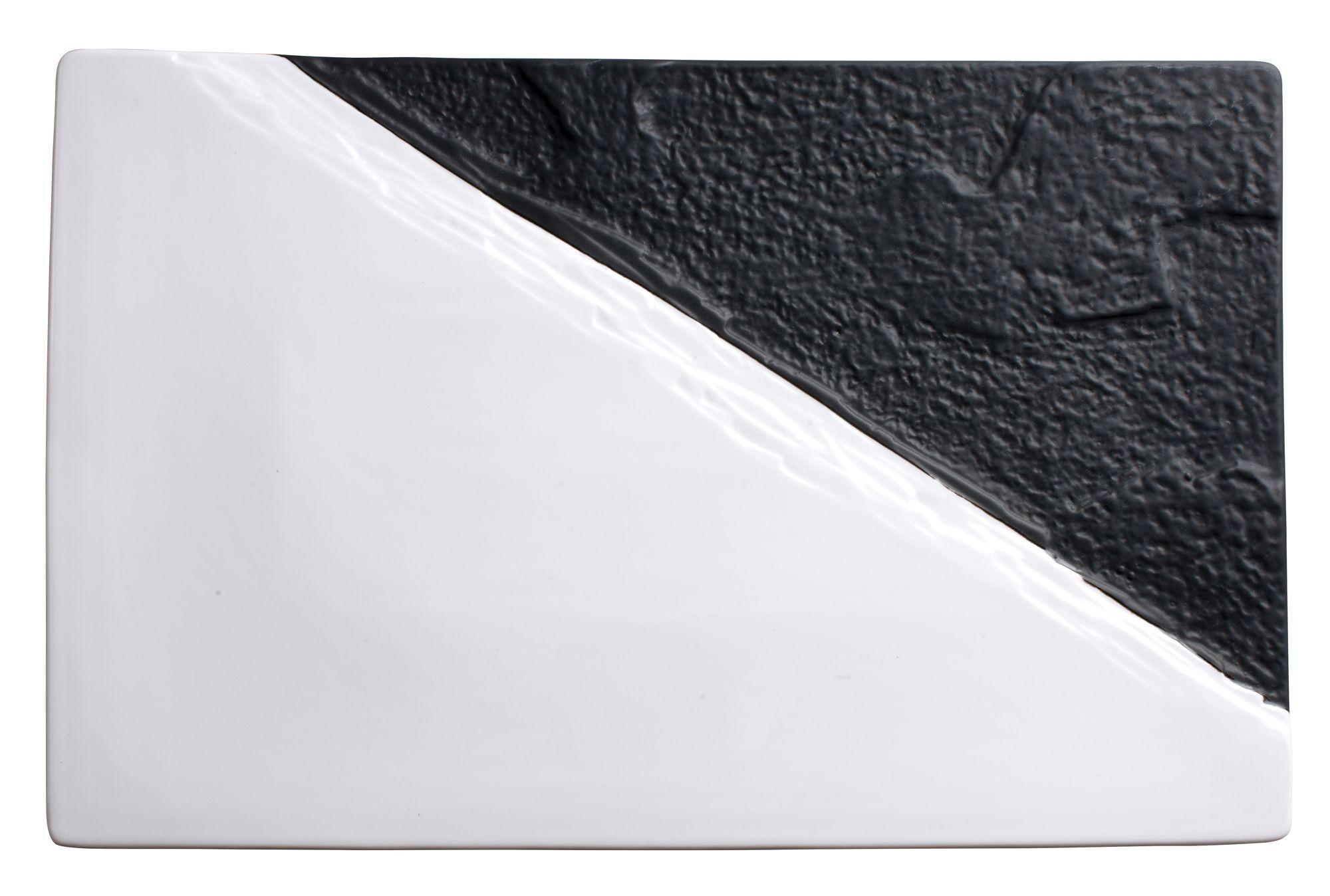 "Winco WDP023-203 Visca Porcelain Rectangular Platter 15-1/2"" x 10"""