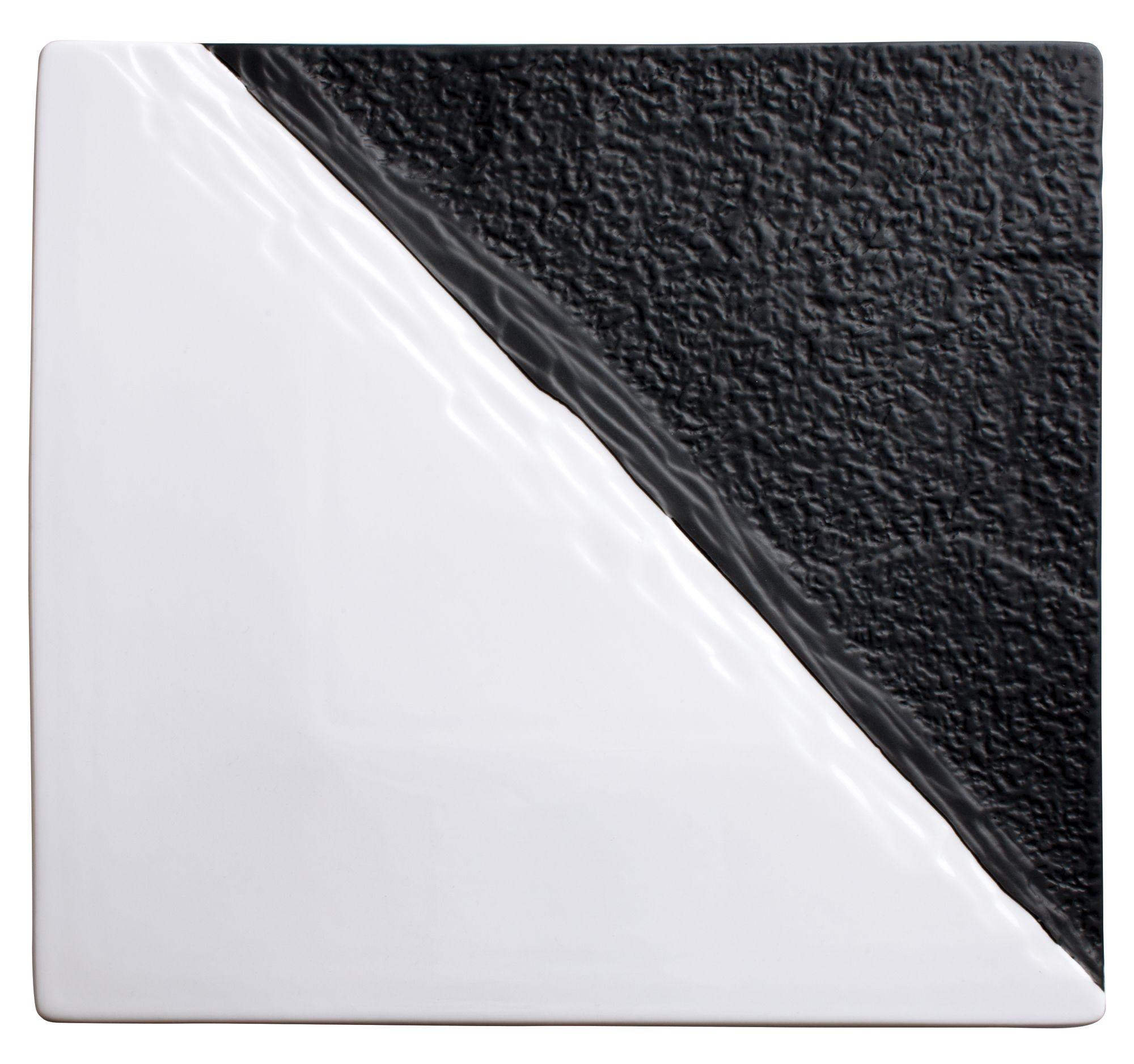 "Winco WDP023-204 Visca Porcelain Square Platter 11"""
