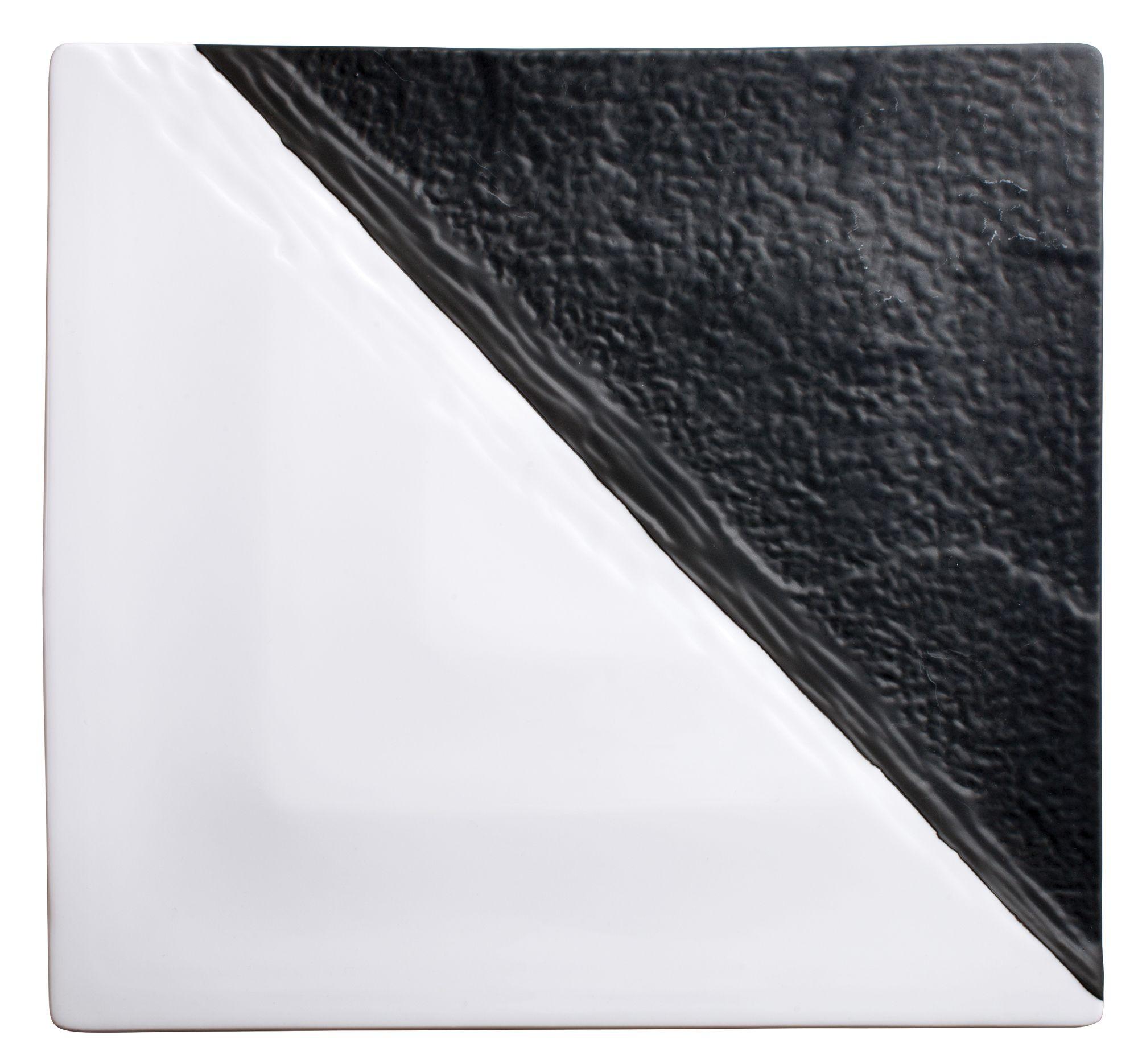 "Winco WDP023-205 Visca Porcelain Square Platter 13"""