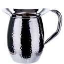 Winco WPB-2H Stainless Steel Hammered Bell Pitcher 2 Qt.