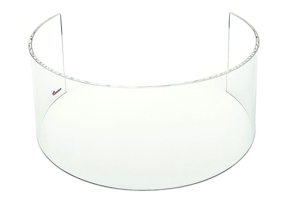 "Rosseto SA110 Short Clear Acrylic Windguard For 7"" Round Warmer 15"" x 15"" x 7"""