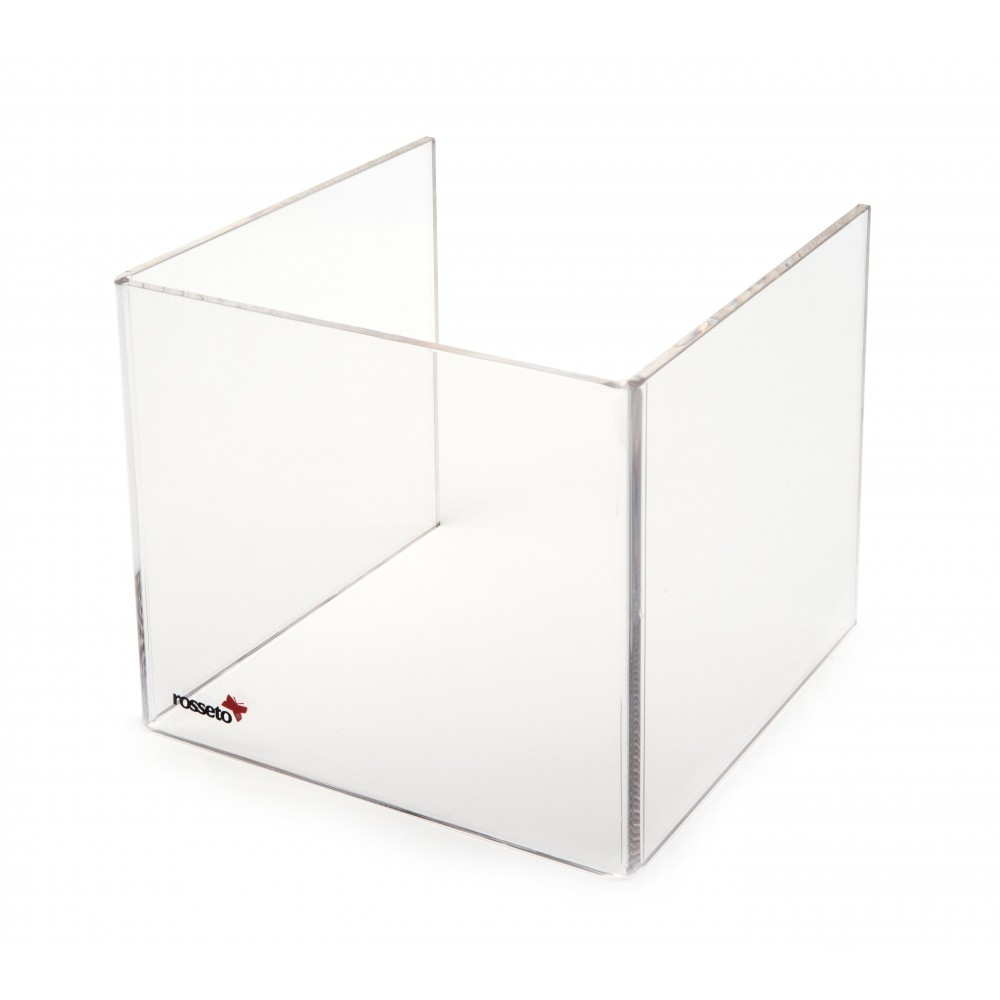 "Rosseto SA109 Tall Clear Acrylic Windguard For 10"" Square Warmer 8.5"" x 8.5"" x 10"""
