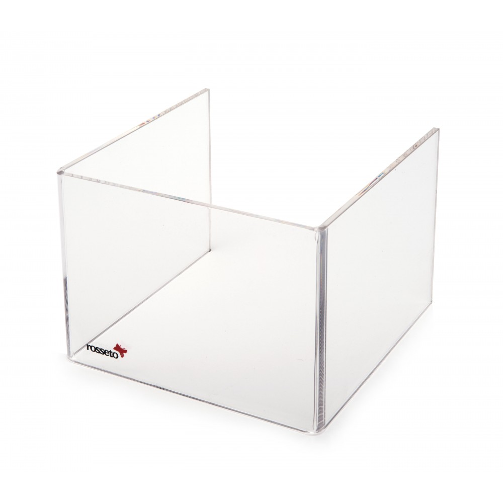 "Rosseto SA108 Short Clear Acrylic Windguard For 7"" Square Warmer 8.5"" x 8.5"" x 7"""